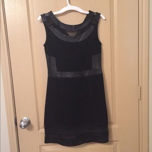 Dresses & Skirts - Elliatt Fitted Dress with Leather Accents
